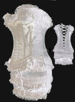 A068-14 bridal Corset & Skirt Set