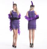419Purple   1920s  flapper costume S-2XL USD14