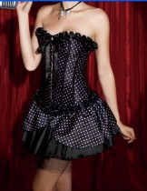 1235-3 corset mini skirt costume