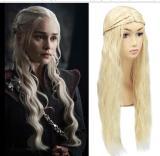 Game of Thrones Daenerys Targaryen Braids Costume Cosplay Wigs Party Accessories