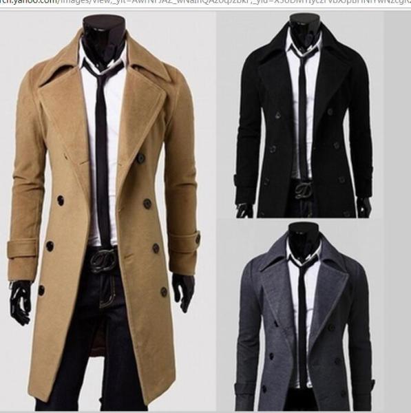 OEM Manufacture Hot Fashion Long Trench Coat Men Stylish Winter Coat