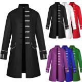 201809 2018 S-3XL  Men Steampunk Gothic Victorian coat