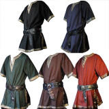 Adult Men Medieval Knight Warrior Costume Green Tunic
