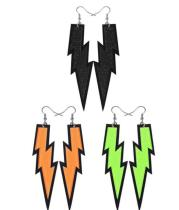 3 Pairs Women Fashion Retro Neon Earrings for 80s Party or Retro Costume Party