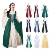 9999 Medieval Women's Solid Vintage Victorian Gothic Dress