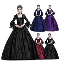 Cosplay Medieval Palace Princess Dress Adults Vintage evening gown for Women 2018 Lace Long Sexy  Party Halloween Costume 3XL