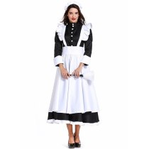 Plus Size Classic Black White French Maid Servant Costume