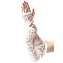 Ladies Girls Neon Sexy Long Fingerless Fishnet Lace High Elasticity Gloves Hand Gloves guantes eldiven handschoenen