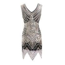 Women's 1920s Dance Dress Shining Flapper Dress 1920s Vintage Gatsby Great Gatsby Charleston Sequin Tassel Party Sequins Dress