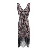 Fashion S-XXXL Plus Size Women's Fashion 1920s Flapper Dress Vintage Great Gatsby Charleston Sequin Tassel 20s Party Dress