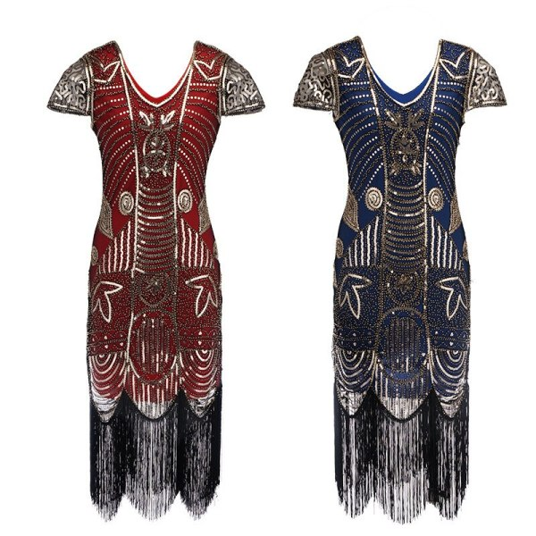 Embellished Beaded Sequin Dress