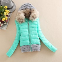 Big Fur Collar Warmth Casual Down Coat h229