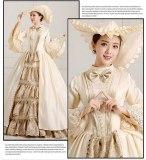 Medieval Renaissance Victorian Dresses Champagne Masquerade Costumes