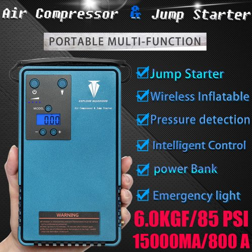 jump starter with air Compressor & Mobile Power Support