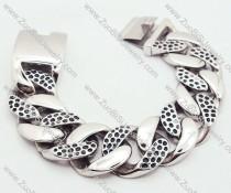 Silver Heavy Stainless Steel Bracelet - JB200019