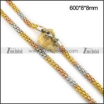 8MM Popcorn Chain in 3 Tones n001098
