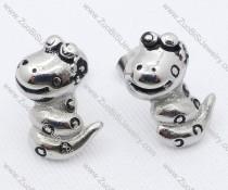 Stainless Steel Snake Earring - JE050064