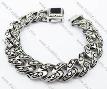Stainless Steel Casting Rose Bracelet -JB370014