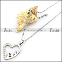 Stainless Steel LOVE Heart Charm Chain n001333
