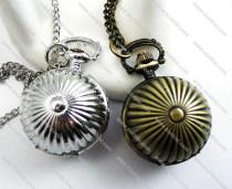 3D Silver or Brass Pumpkin Ball Pocket Watch -PW000228
