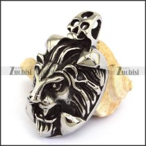 43mm Big Stainless Steel Lion Pendant p003311