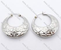 Flower Lines Stainless Steel earring - JE050090