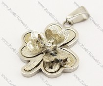 Stainless Steel Flower Pendant -JP140043