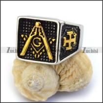 24K Masonic Ring r003611