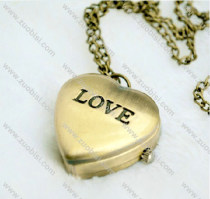 Vintage Brass LOVE Pocket Watch Chain - PW000096