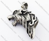 Stainless Steel Wolf Pendant - JP420040