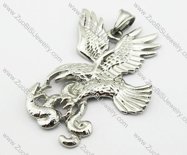 Stainless Steel Snake War Eagle Pendant -JP140092
