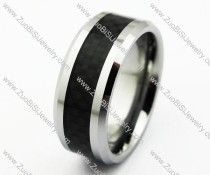 Black Carbon Fibre Tungsten Ring JR270025