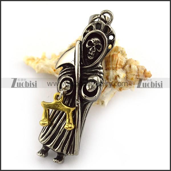 Grim reaper pendant p004037 zuobisi jewelry grim reaper pendant p004037 item no p004037 aloadofball Gallery
