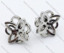 Metal Flower Stainless Steel earring - JE050022