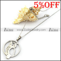 Stainless Steel Owl Necklace Chain with Rhinestones n001338