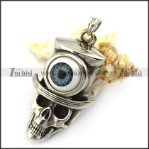 Evil Eye Skull Pendant p005276