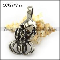 Spider Shape Skull Pendant p004437