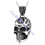 big steel skull pendant with A logo on head JP350116