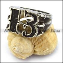 Black 13 Biker Ring r003667