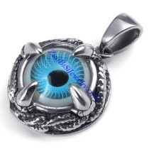 Blue Belial Eye Ball Pendant With Dragon Claw Shaped in Stainless Steel -JP450005