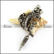 Dragon Tattoo Pendant in Stainless Steel p004467