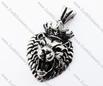 The King of Forest Lion Pendant in Stainless Steel- JP170160