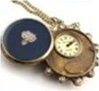 Antique Mechanical Pocket Watch with chain -pw000398