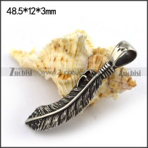 Cube Stainless Steel Feather Charm for Ladies Jewelry p003715