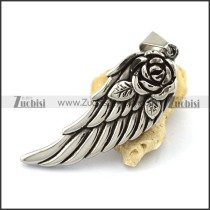 57MM Big Rose Wing Pendant p003025
