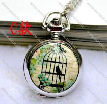Fashion Rhidoum Bird Pocket Watch Chain - PW000049-3
