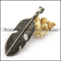 Vintage Feather Charm p004401