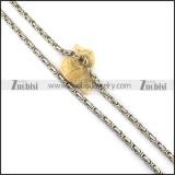 600mm Long Silver Steel Byzatine Chain n001123