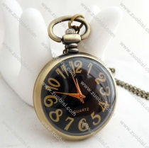 Black Face Pocket Watch with Latin Number -PW000226