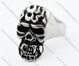 Stainless Steel Fire Skull Ring -JR330016